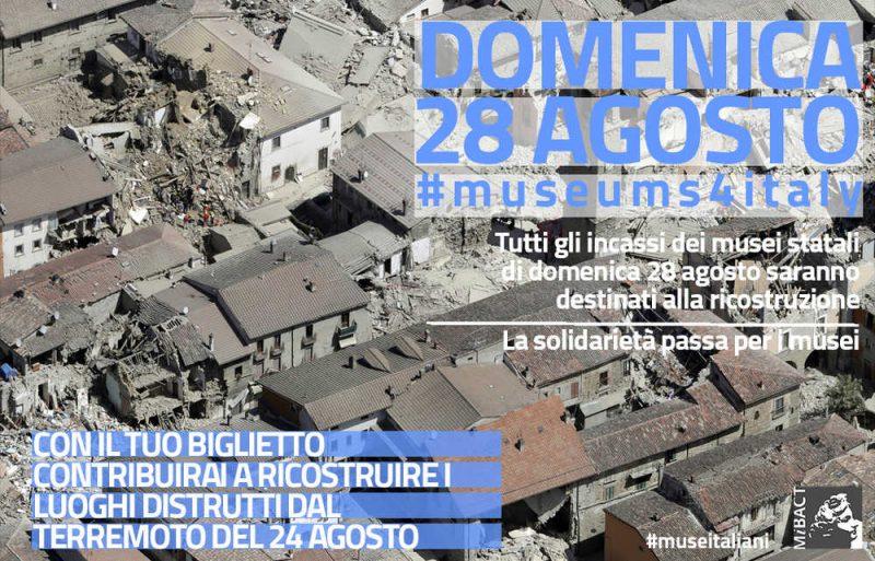 Questa domenica gli incassi del parco di Miramare saranno devoluti in beneficenza per le vittime del terremoto