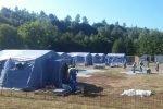 La Protezione civile FVG al lavoro per costruire un ponte e liberare Amatrice dall'isolamento