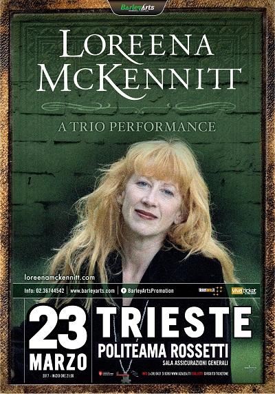 Loreena McKennitt, l'icona mondiale della musica celtica torna in Italia dopo 5 anni, live a Trieste il 23 marzo 2017