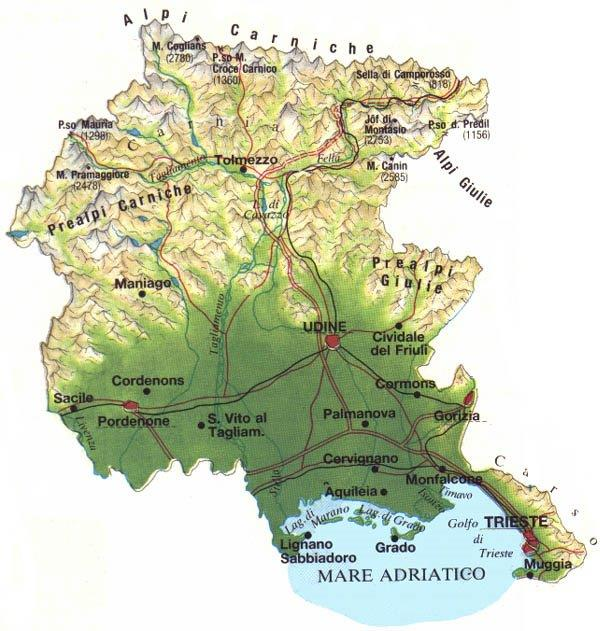 Cartina Fisica Del Friuli Venezia Giulia.Indagine Ires Fvg Dichiarazioni Dei Redditi Il Friuli Venezia Giulia Al Nono Posto Trieste News